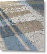 Crosswalk Shadow 2 Metal Print