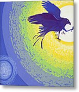 Crow, 1999 Gouache On Paper Metal Print