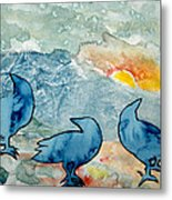 Crow Series 4 Metal Print