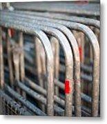 Crowd Control Barriers Metal Print