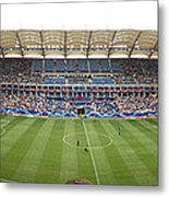 Crowd In A Stadium To Watch A Soccer Metal Print