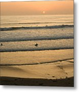 Crowded Californian Surfing Sunset Pacific Beach San