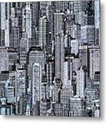 Crowded City Metal Print