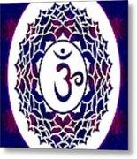 Crown Chakra Abstract Spiritual Artwork By Omaste Witkowski Metal Print