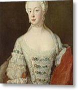 Crown Princess Elisabeth Christine Von Preussen, C.1735 Oil On Canvas Metal Print
