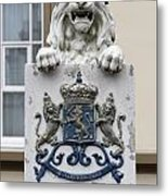 Crowned Lion  Metal Print