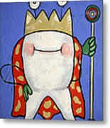 Crowned Tooth Metal Print by Anthony Falbo