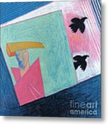 Crows And Geometric Figure Metal Print