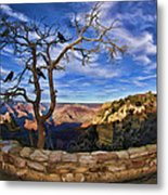 Crows Of The Grand Canyon Metal Print
