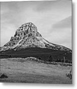 Crowsnest Mountain Black And White Metal Print