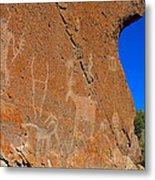 Capital Reef Rock Art Panel A Metal Print