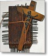 Crucifix Box Metal Print