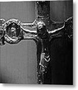 Crucifix Illuminated Metal Print