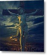 Crucifixcion Metal Print