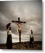 Crucifixion Scene Of Roman Movie Metal Print