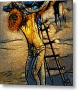 Crucifixion - Stained Glass Metal Print