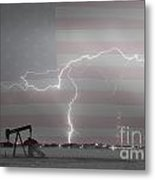 Crude Oil And Natural Gas Striking Across America Bwsc Metal Print by James BO  Insogna