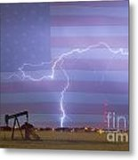 Crude Oil And Natural Gas Striking Across America Metal Print by James BO  Insogna