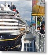 Cruise Dockside In Vancouver Metal Print