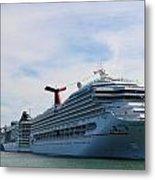 Cruise Line - Miami Florida Metal Print