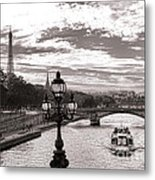 Cruise On The Seine Metal Print