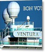 Cruise Ship Ventura's Radar Domes Metal Print by Terri Waters
