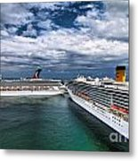 Cruise Ships Port Everglades Florida Metal Print