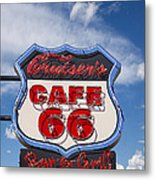 Cruisers Cafe 66 Sign Metal Print
