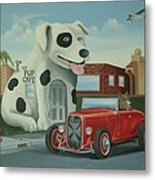 Cruisin' At The Pup Cafe Metal Print