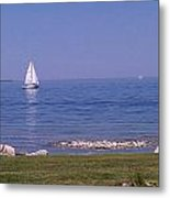 cruisin down the Bay on a Sunday afternoon Metal Print by Dawn Koepp