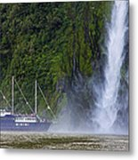 Cruising By A Waterfall Metal Print