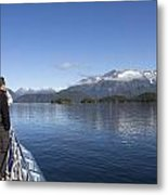 Cruising Inn Doubtful Sound South Island New Zealand Metal Print