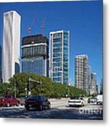 Cruising North On Lake Shore Drive In Chicago Metal Print