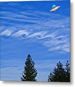 Cruising Over Spokane Metal Print