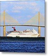 Cruising Tampa Bay Metal Print by David Lee Thompson