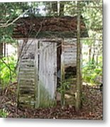 Crumbling Old Outhouse Metal Print