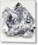 Crumpled Aluminum Foil Metal Print