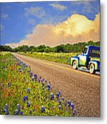 Crusin' The Hill Country In Spring Metal Print