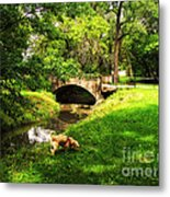 Cruz At Deer Creek Bridge Dwight Il Metal Print