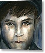 Crying In The Shadows Metal Print
