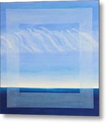 Crystal Blue Horizon - Center Panet Metal Print