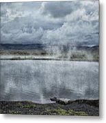 Crystal Crane Hot Springs Metal Print