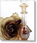 Crystal Perfume Bottle Metal Print