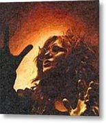 Crystalized Rock Metal Print