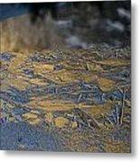 Crystalline Surface Of Mirror Lake In Yosemite Valley Metal Print