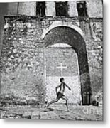 Cuba - Boy And Church Metal Print