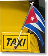 Cuba Taxi Metal Print