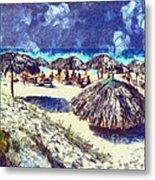 Cuban Beach Metal Print