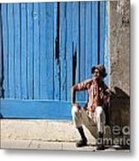 Cuban Man And His Cigar Metal Print