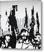 Cuban Revolution Painted On A Wall Metal Print